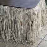 Deluxe Natural Raffia Table Skirt