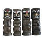Friki-Tiki Full Body Solar Painted Tribal Statue
