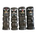 Friki-Tiki Full Body Solar Painted Tribal Statue