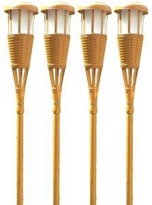 Solar Flickering Tiki Torches