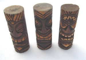 6 inch Hand Carved Wood Tiki
